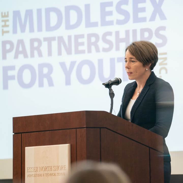 Massachusetts Attorney General, Maura Healey speaking at MPY's